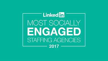 Banner LinkedIn Most Socially Engaged 2017